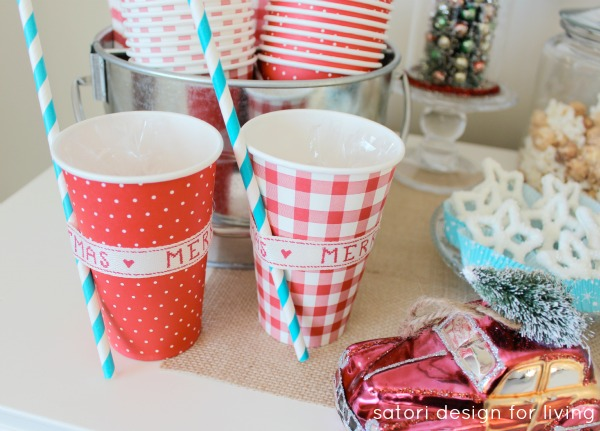 Individual Hot Chocolate To-go Cups - Holiday Party Favors by Satori Design for Living