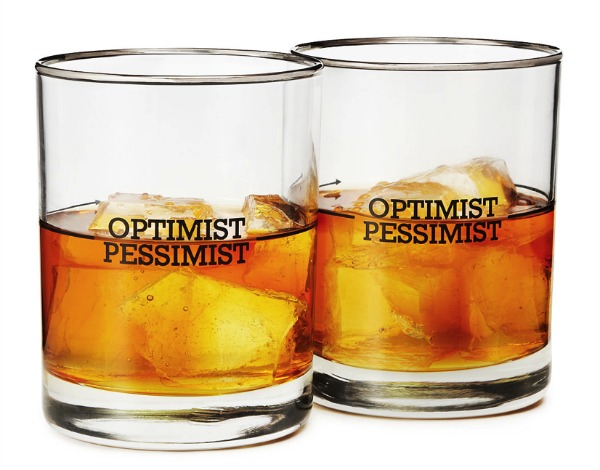 Entertaining Ideas | Optimist Pessimist Cocktail Glasses | Satori Design for Living
