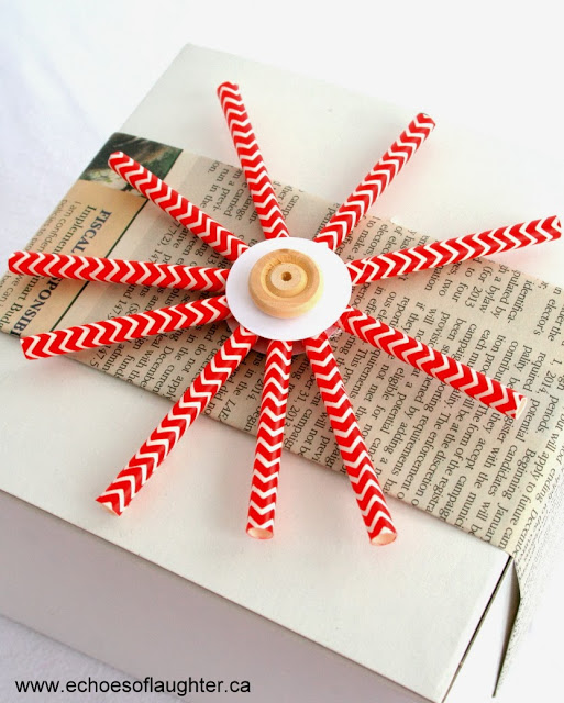 All Things Christmas- Paper Straw Snowflakes- Echoes of Laughter