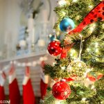 Red, white and aqua Christmas tree from It's Overflowing