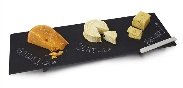 Slate Cheese Server with Soapstone Chalk   Satori Design for Living