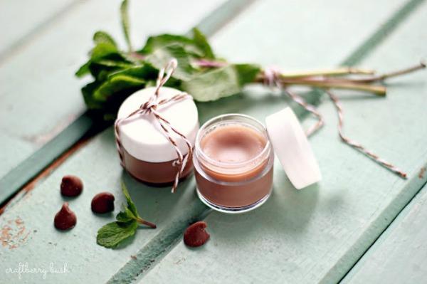 All Things Christmas- Handmade Gift Idea- chocolate mint lip balm craftberry bush