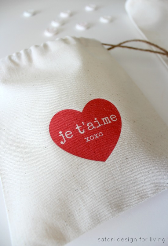DIY Valentine's Day Treat Bags with Iron-on Transfer Printables | Satori Design for Living