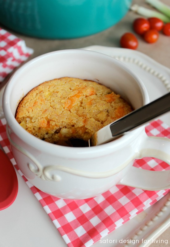 Superbowl Recipe - Chili with Jalapeno Cheddar Cornbread Crust   Satori Design for Living