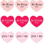 Valentine's Day Iron On Transfers for Treat Bags