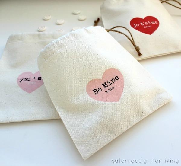Valentine's Day Treat Bags- Satori Design for Living