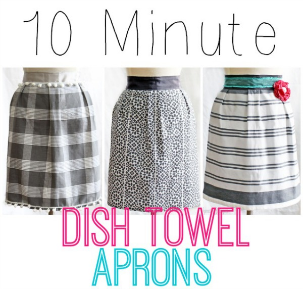 10 minute dish towel apron tutorial - Fynes Designs