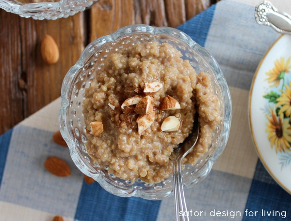 Coconut Quinoa Breakfast Pudding | Satori Design for Living