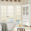 Lake House Window Treatments - Hunter Douglas Designer Roller Shades