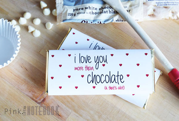 Valentines Day Chocolate Bar Wrapper
