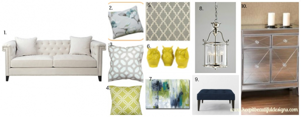 Charleston Sofa Moodboard