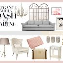 Designer Challenge Series: Elegance with a Dash of Darling Living Room Mood Board by Pink Little Notebook