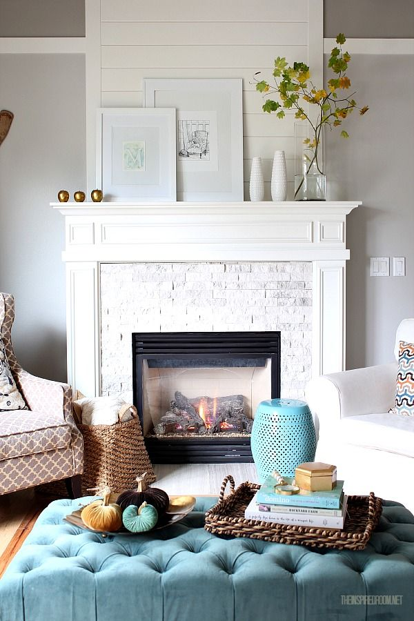 Fireplace Styling via The Inspired Room