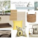 Ready for a living room refresh? Check out these decorating and styling tips, including a mood board inspired by spring.