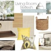 Living Room Refresh for Spring