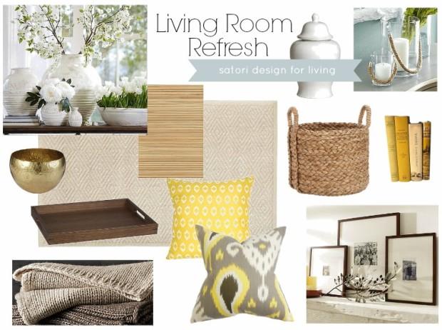 Living Room Refresh- Spring Mood Board
