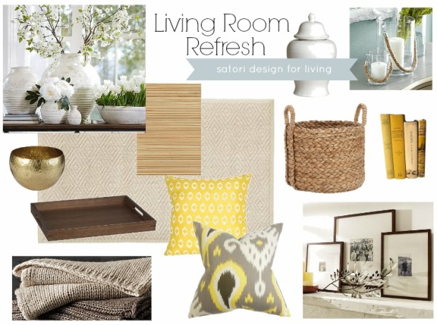 Living Room Refresh- Spring Mood Board