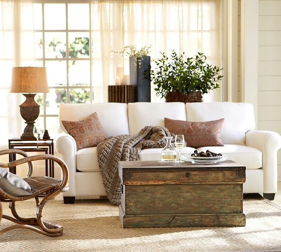 Pottery Barn Neutral Living Room