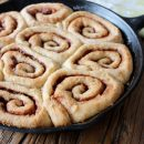 Skillet Cinnamon Buns with Caramel Sauce - Satori Design for Living