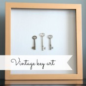 Vintage Key Art- Gold Gilded Shadow Box