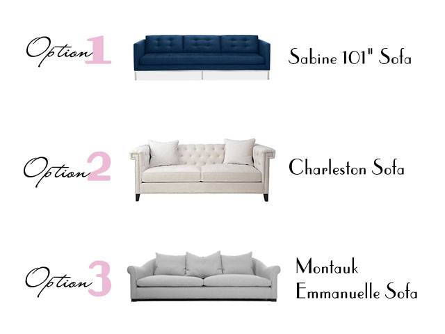 designer challenge sofa options