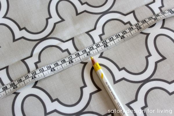 DIY Roman Shade Tutorial Step 1