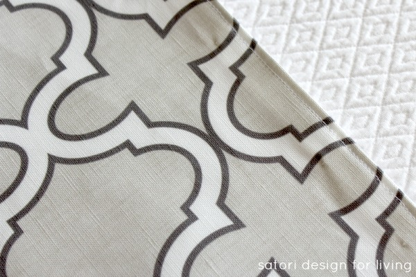 DIY Roman Shade Tutorial Step 5 - Satori Design for Living