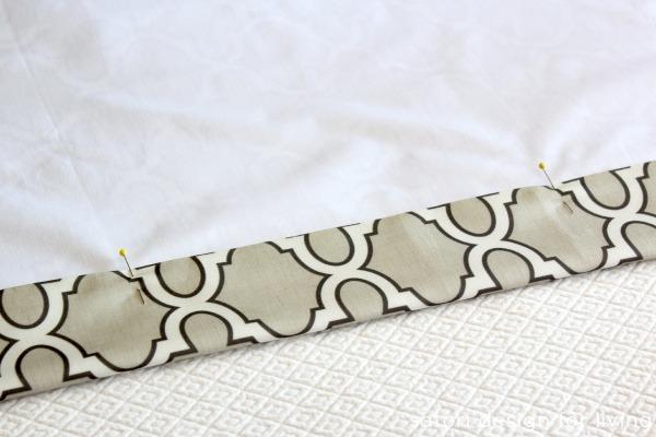 DIY Roman Shade Tutorial Step 6 - Satori Design for Living.com