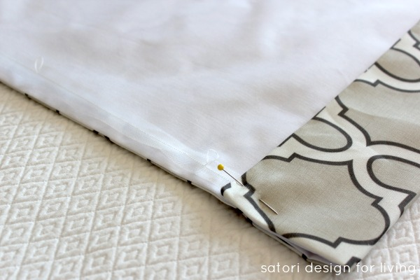 DIY Roman Shade Tutorial Step 7 - Satori Design for Living