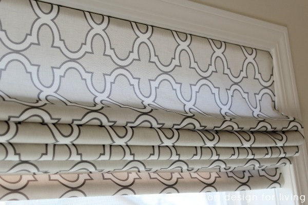 DIY Roman Shade Using Spoonflower Fabric