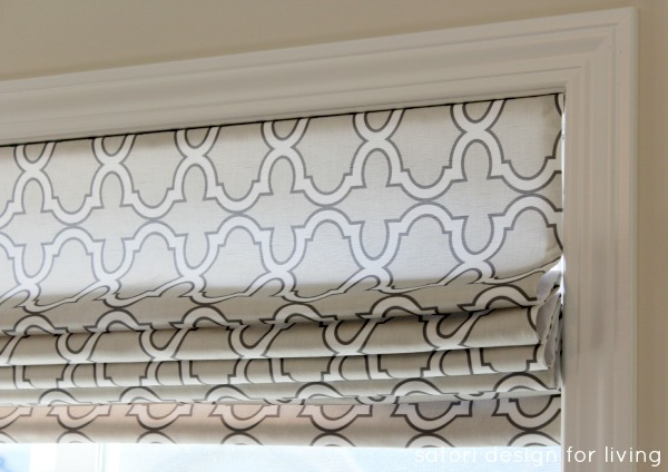 DIY Roman Shade (sew + no sew technique)