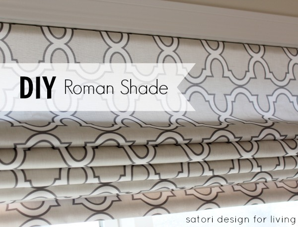 Diy Roman Shade Using Spoonflower Fabric Satori Design