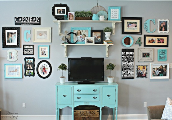 Eclectic Gallery Wall - A Diamond in the Stuff