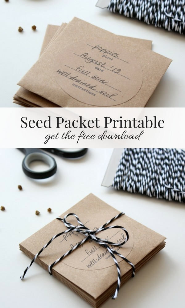 Create your own seed packets using these handy printable labels and small envelopes. A great way to keep your seeds organized. Your garden-loving friends will enjoy them too!