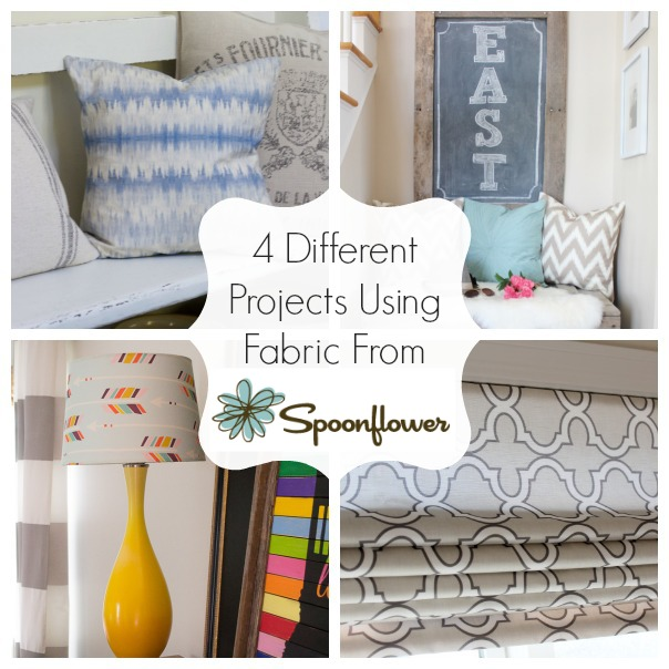 Only have 2 yards of fabric? Check out these Spoonflower fabric projects for ideas! SatoriDesignforLiving.com