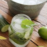 Refreshing Basil Cucumber Mojito | Low Calorie Cocktail Made with Fresh Ingredients | Satori Design for Living