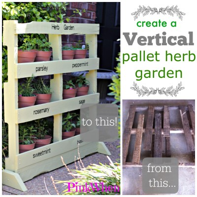 How to Create a Vertical Pallet Herb Garden