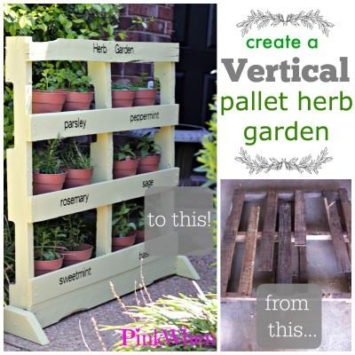 Create-a-Vertical-Pallet-Herb-Garden