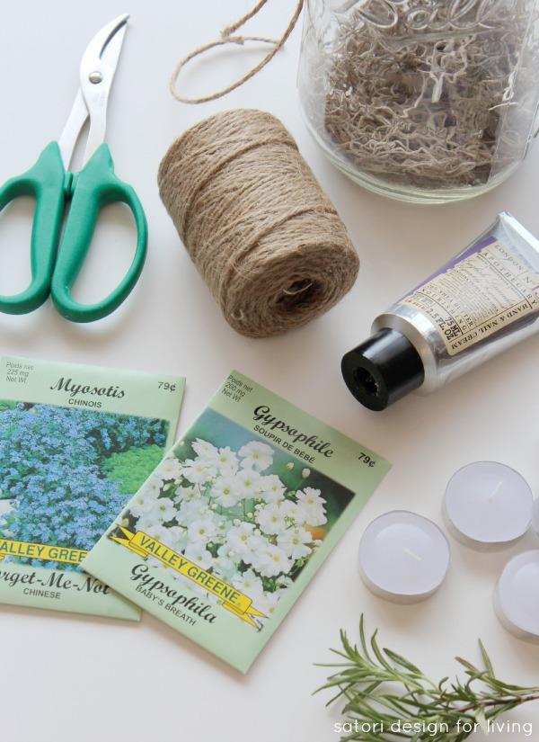 Garden-themed Hostess Gift in a Jar - Gift Idea for the Gardener - Satori Design for Living
