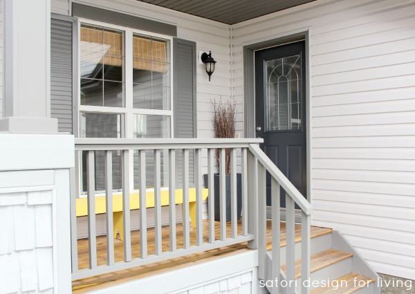 Grey Front Porch Decorating Before - Satori Design for Living