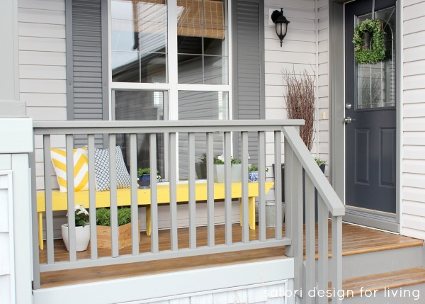Spring Front Porch Decorating- Yellow, Blue and Green Front Porch | Satori Design for Living