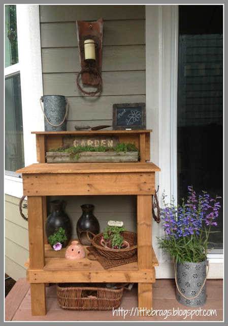 Stained Potting Bench