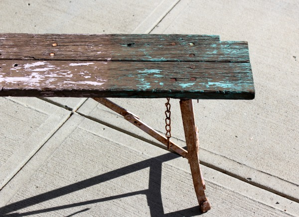 Weathered Chippy Bench Before