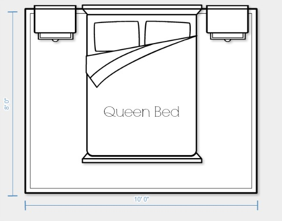 Guidelines For Area Rug Placement And Size Queen Bed Option 1