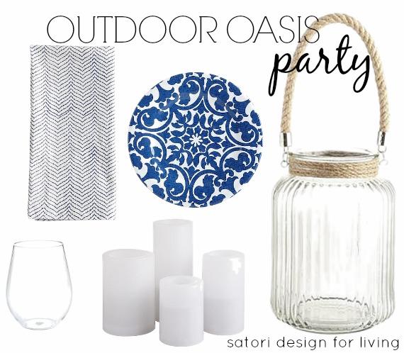 Outdoor Oasis Party Decor - Satori Design for Living