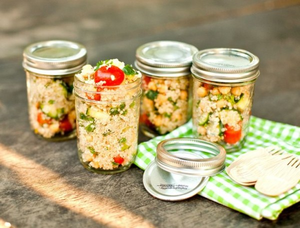 Jar Recipes to Take Alone on Your Next Picninc - Quinoa and Tomato Salad by The Chic Table