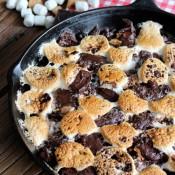 Skillet S'more Brownies Camping Dessert - Satori Design for Living