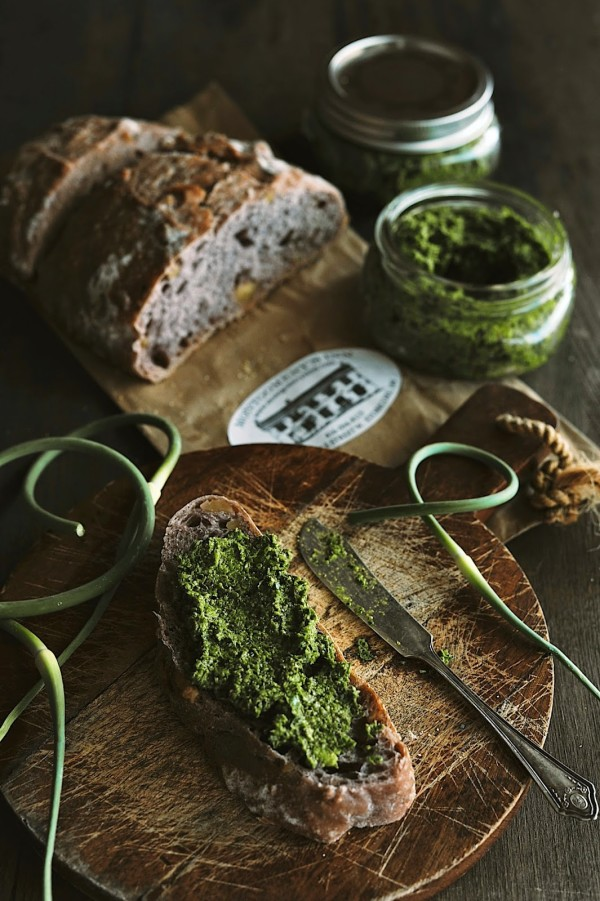 Homemade Kale and Garlic Pesto by Sylvia's Simple Life
