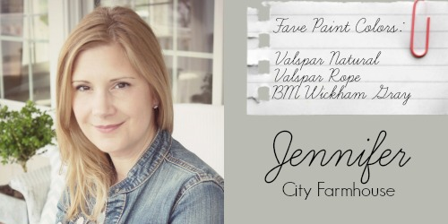 Jennifer - City Farmhouse - Favorite Paint Colors - Valspar Natural, Valspar Rope, Benjamin Moore Wickham Gray