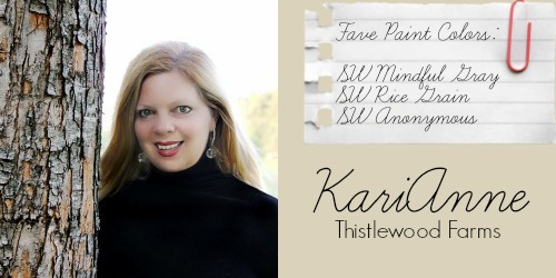 KariAnne - Thistelwood Farms - Favorite Paint Colors